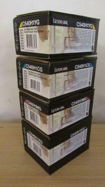 Genuine Lexmark C540H1 C540 C540N C543 C544 X543DN Full CMYK Toner Set