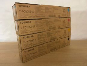Genuine Toshiba T-FC505E Toner Set - CMYK