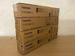 Genuine Toshiba T-FC30E E-studio 2050C Toner Set CMYK