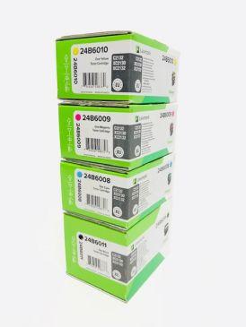 Genuine Lexmark 24B6008/9/10/11 Toner Set CMYK C2132 XC2130 XC2132