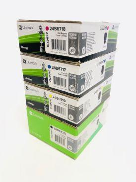 Genuine Lexmark 24b6717/8/9/20 Toner Set CMYK XC4140 XC4150