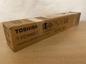 Genuine Toshiba T-FC556E-C Cyan Toner - E-studio 5506AC