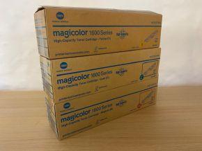 Genuine Konica Minolta Magicolor 1600 Set - CMY