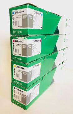 Genuine Lexmark 24B6849 /48/47/46 Toner Set CMYK XC9200