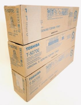 Lot of 3 Genuine Toshiba T-5070E Toners 6AJ00000193