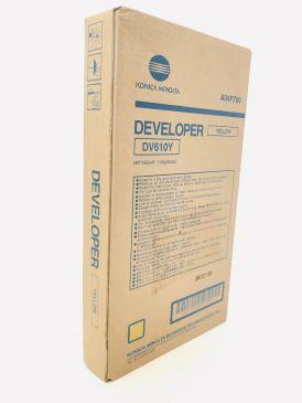 Genuine Konica Minolta DV610Y Yellow Developer A04P700