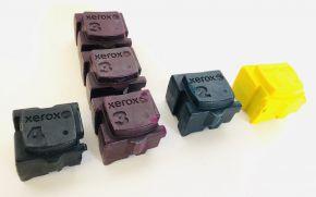 Lot of 6 Genuine Xerox 8570 ColorQube Ink Sticks UNBOXED