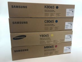 Genuine Samsung C806S M806S Y806S K806S Toner Set - CMYK