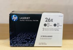 Genuine HP LASERJET 26X Twin Pack Black Toner CF226XD